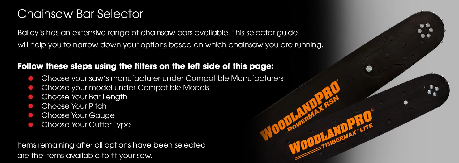 Chainsaw Bar Selector