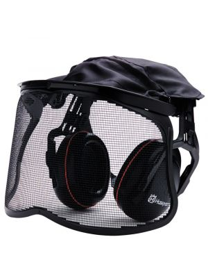 Husqvarna Earmuff Hearing Protection w/ Mesh Safety Visor